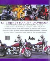 Legende harley davidson - 4ème de couverture - Format classique