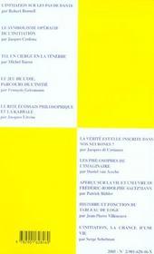 Travaux de la loge n.59 ; verites et imaginal dans les parcours initiatiques - 4ème de couverture - Format classique