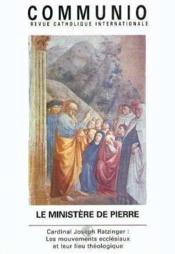 REVUE COMMUNIO N.144 ; le ministère de Pierre - Couverture - Format classique