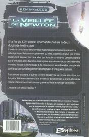 La veillée de Newton - 4ème de couverture - Format classique