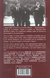 Au coeur de la gauche - 4ème de couverture - Format classique