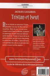 Tristan et Iseut - 4ème de couverture - Format classique
