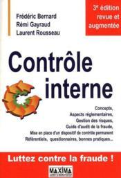 Contrôle interne (3e édition) - Couverture - Format classique