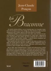 La braconne - 4ème de couverture - Format classique