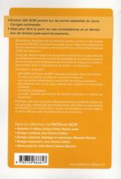 Biostatistiques-biomathématiques ; UE 4 ; QCM - 4ème de couverture - Format classique