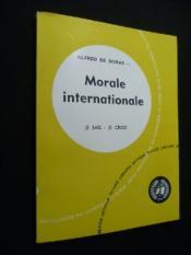 Morale internationale - Couverture - Format classique