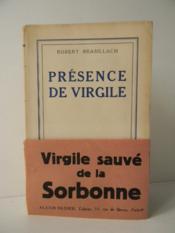 Presence De Virgile. - Couverture - Format classique