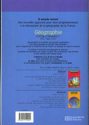 A MONDE OUVERT ; géographie ; CE2/CM1 ; cycle 3/niveau 1 ; cahier d'activités - 4ème de couverture - Format classique