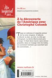 Un marin de trop ; voyage avec Christophe Colomb - 4ème de couverture - Format classique