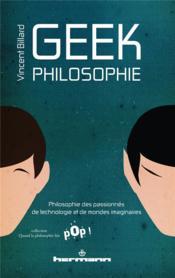 Geek philosophie - Couverture - Format classique