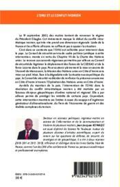 L'ONU et le conflit ivoirien ; les enjeux géopolitiques de l'intervention 2002-2010 - 4ème de couverture - Format classique