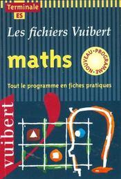 Mathematiques Terminale Es - Intérieur - Format classique