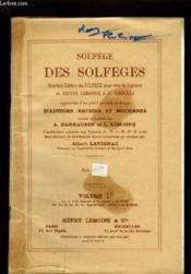 Solfege Des Solfeges - Volume 1 C : Memes Lecons Que 1 A En Cle De Fa 4° Ligne Exclusivement. - Couverture - Format classique