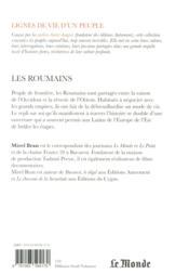 Les Roumains - 4ème de couverture - Format classique