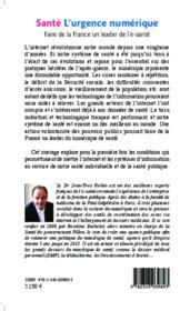 Santé, l'urgence numérique ; faire de la France un leader de l'e santé - Couverture - Format classique