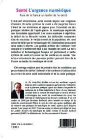 Santé, l'urgence numérique ; faire de la France un leader de l'e santé - 4ème de couverture - Format classique