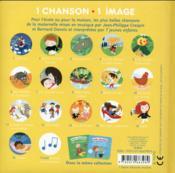 Mon imagier des chansons de la maternelle ; livre-cd - 4ème de couverture - Format classique
