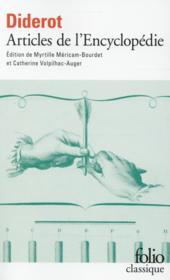 Articles de l'Encyclopédie - Couverture - Format classique
