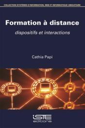 Formation à distance ; dispositifs et interactions - Couverture - Format classique