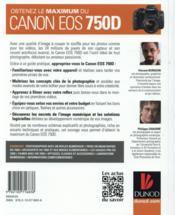 Obtenez le maximum du Canon EOS 750D - 4ème de couverture - Format classique