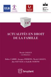 Actualités en droit de la famille - Couverture - Format classique