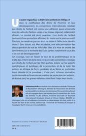 La traite des enfants en Afrique ; l'application des conventions internationales relatives aux droits de l'enfant en République du Bénin - Couverture - Format classique