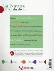 La nature ; miroir du divin - 4ème de couverture - Format classique