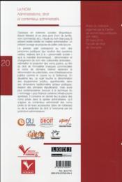Le nom ; administrations, droit et contentieux administratifs - 4ème de couverture - Format classique