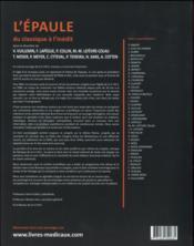L'épaule du classique à l'inédit - 4ème de couverture - Format classique