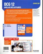 DCG 12 ; anglais des affaires ; manuel ; savoirs et compétences (édition 2019/2020) - 4ème de couverture - Format classique
