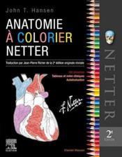 Anatomie à colorier Netter (2e édition) - Couverture - Format classique