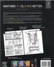 Anatomie à colorier Netter (2e édition) - 4ème de couverture - Format classique