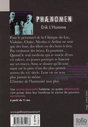 Phaenomen t.1 - 4ème de couverture - Format classique