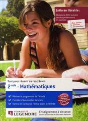Tout pour réussir sa rentrée en 2nde ; mathématiques - Intérieur - Format classique