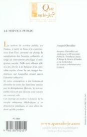 Le service public 6e ed qsj 2359 (6e édition) - Couverture - Format classique