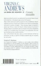 La saga de Heaven t.3 ; coeurs maudits - 4ème de couverture - Format classique