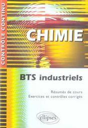 Controle Continu ; Chimie ; Bts Industriels - Intérieur - Format classique