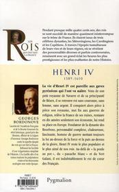 Henri IV - 4ème de couverture - Format classique