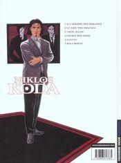 Niklos Koda t.4 ; valses maudites - 4ème de couverture - Format classique