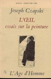 Oeil (L') Essai Sur La Peinture - Couverture - Format classique