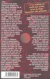 Enfer clos - 4ème de couverture - Format classique