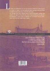 L'Historien En Quete D'Espaces - 4ème de couverture - Format classique