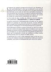 Plasticité et calcul à la rupture - 4ème de couverture - Format classique