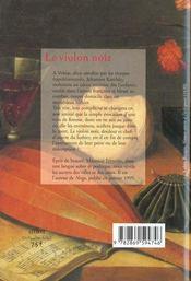 Violon Noir (Le) - 4ème de couverture - Format classique