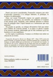 Reveries diverses opuscules litteraireset philosophiques - 4ème de couverture - Format classique