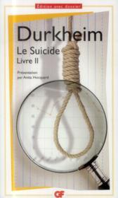 Le suicide, livre II - Couverture - Format classique
