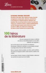 Le guide des 100 héros de la littérature - 4ème de couverture - Format classique