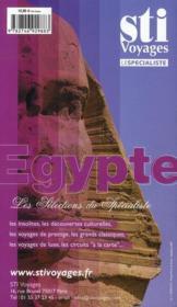 GUIDE PETIT FUTE ; COUNTRY GUIDE ; Egypte (édition 2011) - 4ème de couverture - Format classique
