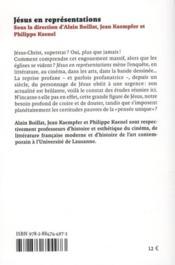 Jésus en représentations ; de la Belle Epoque à la postmodernité - 4ème de couverture - Format classique