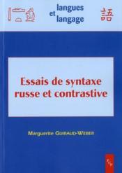 Essais de syntaxe russe et contrastive - Couverture - Format classique